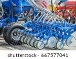 agricultural cultivator for the ... | Shutterstock . vector #667577041