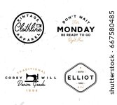 set of vintage logo templates... | Shutterstock .eps vector #667580485