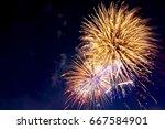 4th july fireworks. fireworks...   Shutterstock . vector #667584901