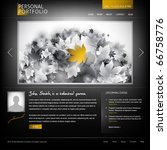 black stylish website template... | Shutterstock .eps vector #66758776