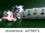 four aces high on green table... | Shutterstock . vector #66758971