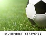 soccer ball on the grass | Shutterstock . vector #667596481
