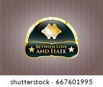 gold shiny emblem with... | Shutterstock .eps vector #667601995