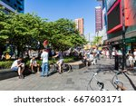 rotterdam  netherlands   may 25 ... | Shutterstock . vector #667603171