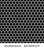 honeycomb wallpaper. repeated... | Shutterstock .eps vector #667604119