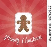 gingerbread man greeting card | Shutterstock .eps vector #66760822