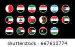 17 middle east country national ... | Shutterstock .eps vector #667612774