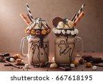 Chocolate  Milkshake With Ice...