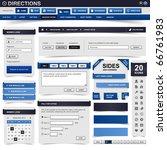web design element blue | Shutterstock . vector #66761983