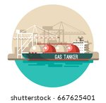 delivery service concept. gas... | Shutterstock .eps vector #667625401