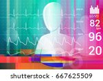 patient monitoring abstract  ... | Shutterstock . vector #667625509