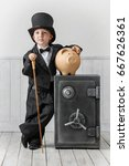 little boy in a suit of the... | Shutterstock . vector #667626361