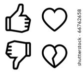 like and unlike. icons are...   Shutterstock .eps vector #66762658