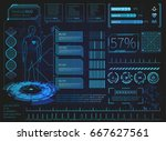 hud element ui medical... | Shutterstock .eps vector #667627561