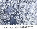 crushed ice background. pieces... | Shutterstock . vector #667629625