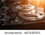 old tape recorder | Shutterstock . vector #667630351