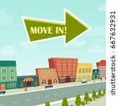 postcard move in relocation... | Shutterstock .eps vector #667632931