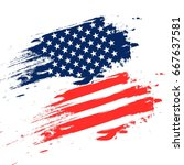 independence day usa  vector... | Shutterstock .eps vector #667637581