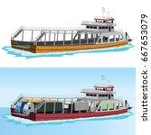 ferry vector   Shutterstock .eps vector #667653079
