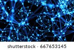 abstract connected dots.... | Shutterstock . vector #667653145
