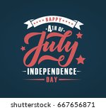 hand sketched text 'happy 4th... | Shutterstock .eps vector #667656871