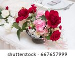 flower arrangement  | Shutterstock . vector #667657999