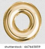 brilliant letter alphabet o... | Shutterstock . vector #667665859