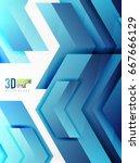 techno arrow background  vector ... | Shutterstock .eps vector #667666129