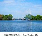alster fountain at binnenalster ... | Shutterstock . vector #667666315