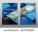 cover design annual report... | Shutterstock .eps vector #667676605