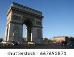 arc de triomphe  paris  france | Shutterstock . vector #667692871