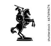 horse knight illustration in...   Shutterstock .eps vector #667694674