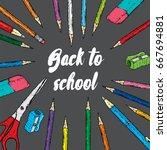 ready made design of postcard...   Shutterstock .eps vector #667694881