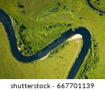 top view of the seim river ... | Shutterstock . vector #667701139