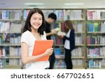 group of asian students... | Shutterstock . vector #667702651