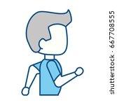 man running cartoon | Shutterstock .eps vector #667708555