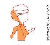 man running cartoon | Shutterstock .eps vector #667709275
