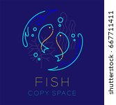 two fish or pisces  water... | Shutterstock .eps vector #667711411