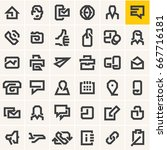 line web icons set | Shutterstock .eps vector #667716181