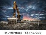 Excavator machinery at...