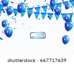 blue balloons  vector... | Shutterstock .eps vector #667717639