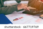 close up accountant or banker... | Shutterstock . vector #667719769