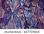 oak tree bark texture digital... | Shutterstock . vector #667724065