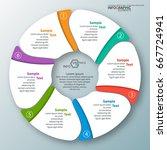 vector abstract 3d paper... | Shutterstock .eps vector #667724941