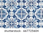 closeup detail of old... | Shutterstock . vector #667725604