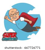 happy grandparents day   Shutterstock .eps vector #667726771