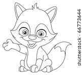 outlined baby fox