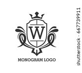 monogram logo template with...   Shutterstock .eps vector #667739911