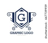 monogram logo template with...   Shutterstock .eps vector #667739959