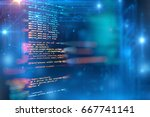 programming code abstract... | Shutterstock . vector #667741141